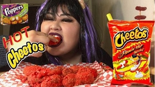 hot cheetos poppers mukbang wendy s eating sow