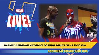 Marvel's Spider-Man Cosplay Costume Debut Live at SDCC 2018
