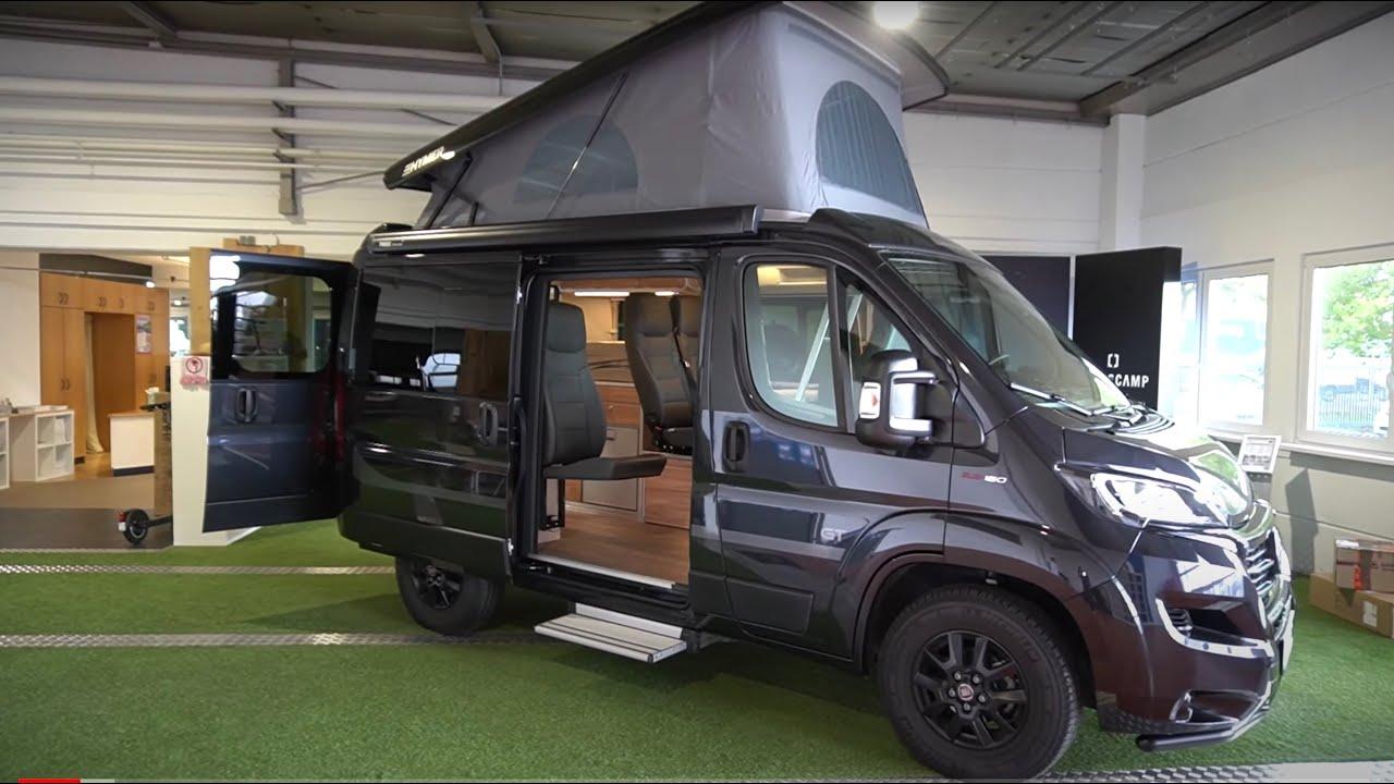 NUR 10,10m: Wohnmobil Hymer 10 Campervan Kastenwagen Fiat Ducato 10  Aufstelldach + 10 Schlafplätze