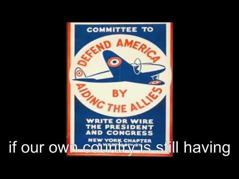 Billy and Troy's PSA for isolationism prior to WWII