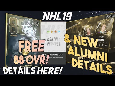 NHL 19 HUT | HOW TO GET A FREE 88 OVR CARD! Monthly Reward Sets and New Alumni Details + Tips!!