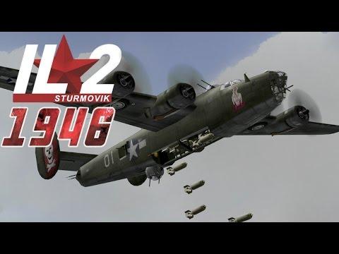 Full IL-2 1946 mission: B-24 Rabaul Raid (IJN Naval Base)