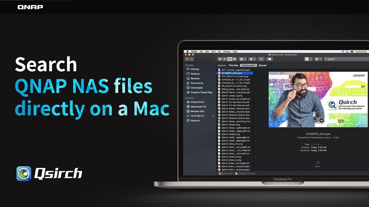 Search QNAP NAS files directly on a Mac