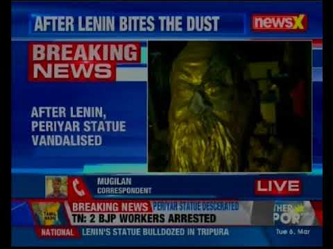 Tamil Nadu: After Lenin, Periyar statue vandalised in Vellore; 2 arrested