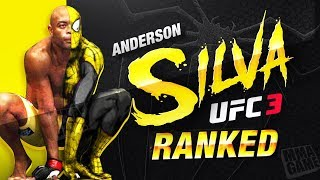 "My BEST fights with ANDERSON ""the SPIDER"" SILVA UFC 3 RANKED"