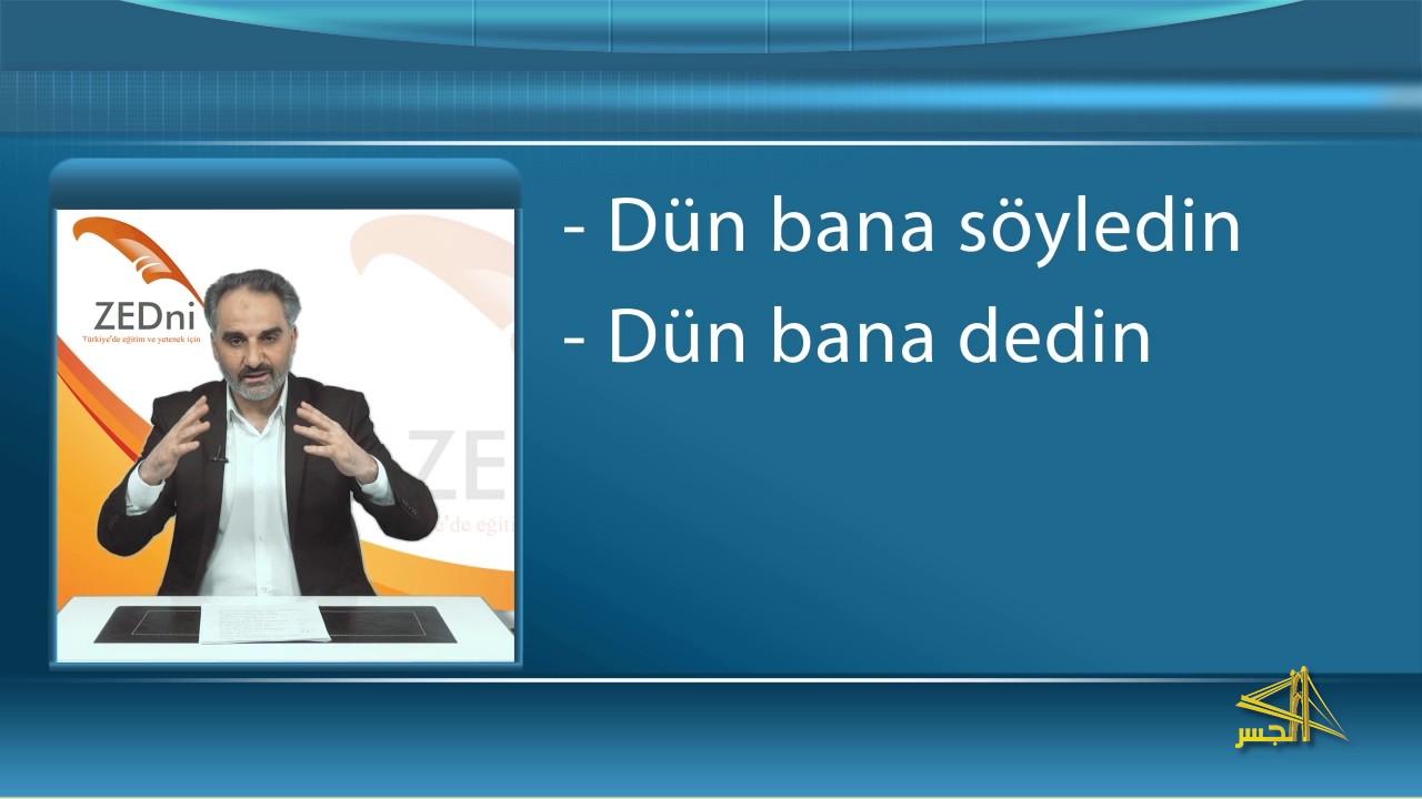 """سلسلة تعليم اللغة التركية مع الدكتور """" محمد زبدية """" الحلقة (23)"""