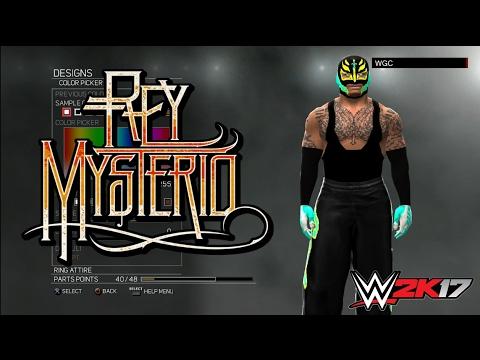 WWE 2K17:Rey Mysterio Jr. CAW Formula(XBOX 360/PS3)