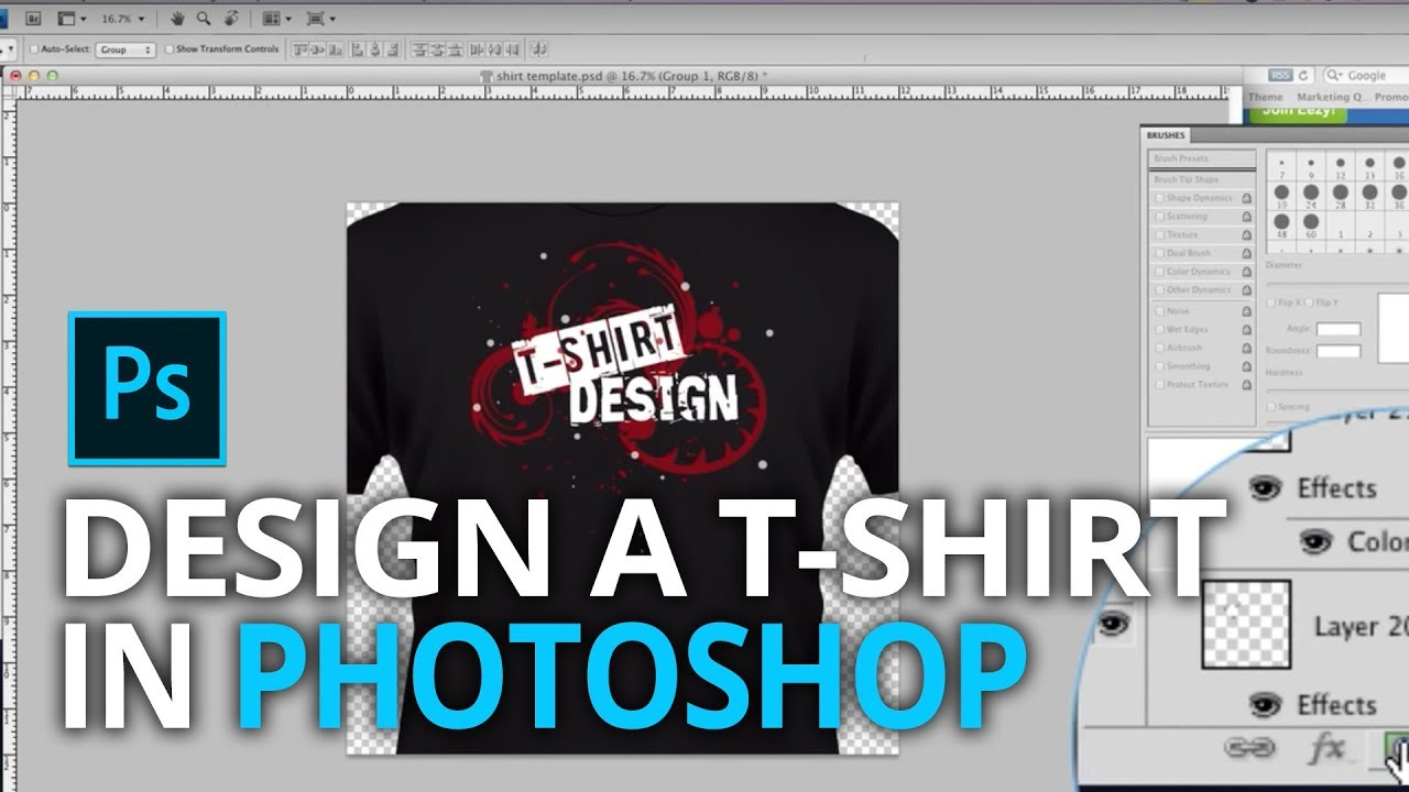 Design t shirt on mac - How To Design A T Shirt In Photoshop