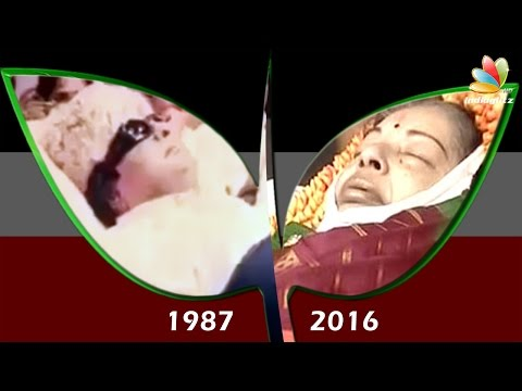 Similarities in Jayalalitha and MGR's Funeral | Death video