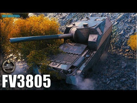 Колобанов на АРТЕ 9 уровня ✅ World of Tanks FV3805 лучший бой