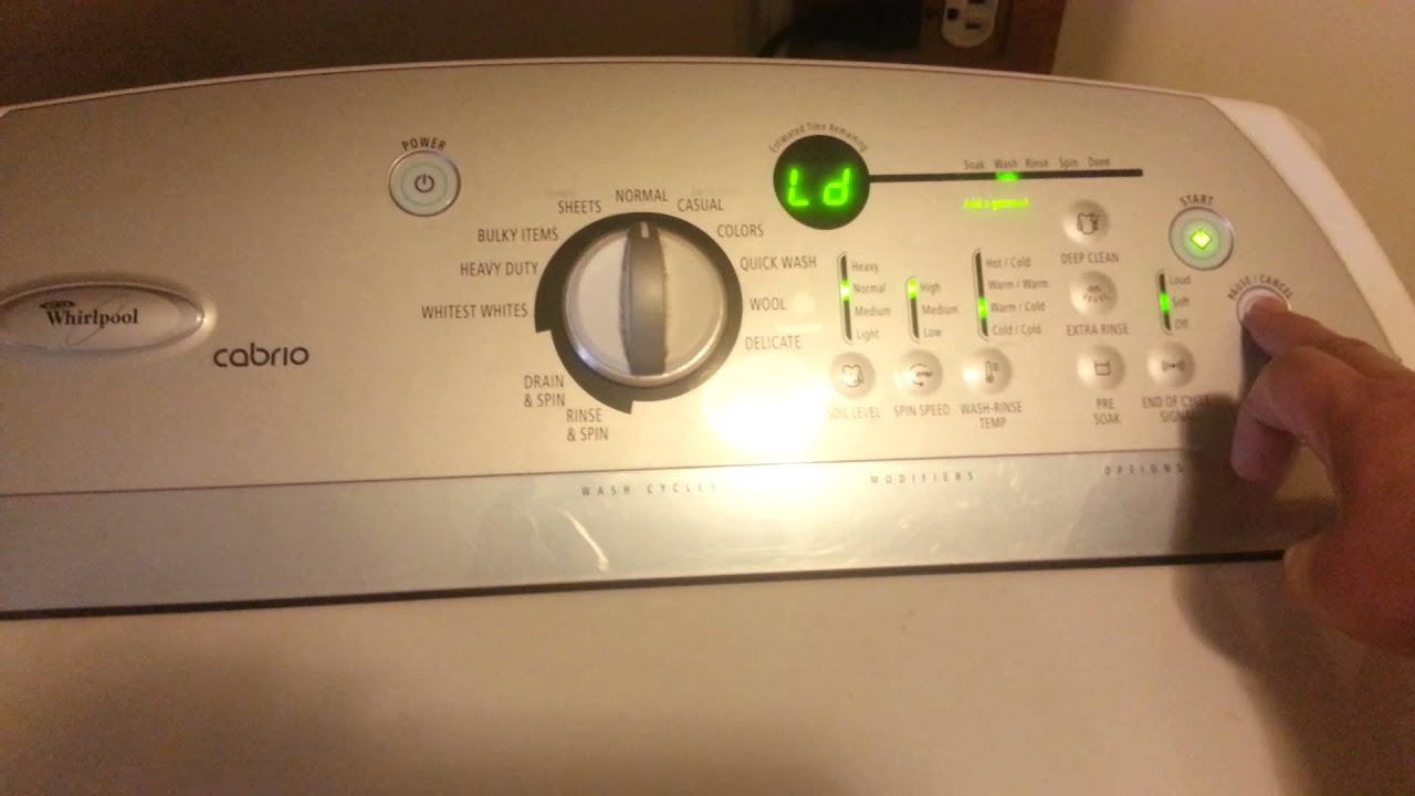 Whirlpool Cabrio Washer Don T Know Wht To Do Youtube