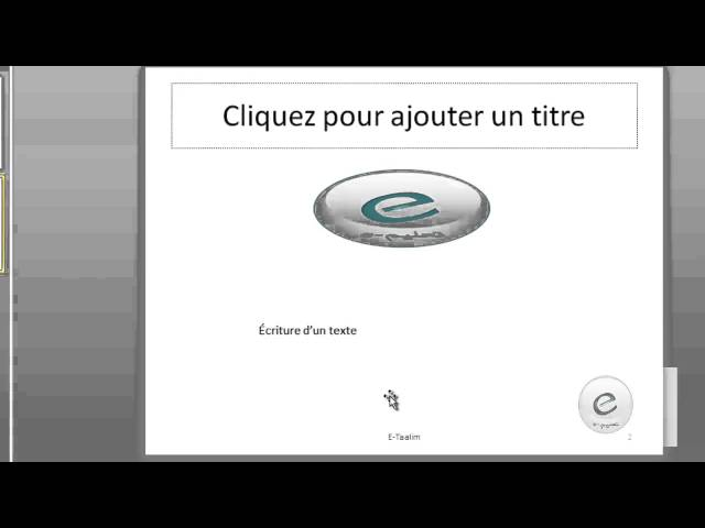 9 MS PowerPoint : Onglet Insertion : Texte Et Symboles