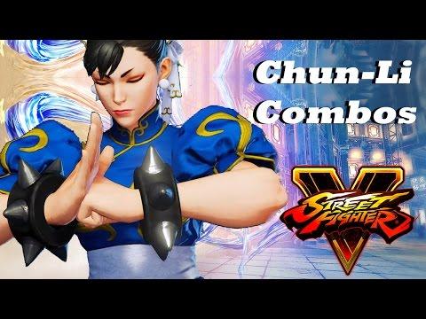 Street Fighter V Chun Li Combos Basic Advanced Youtube
