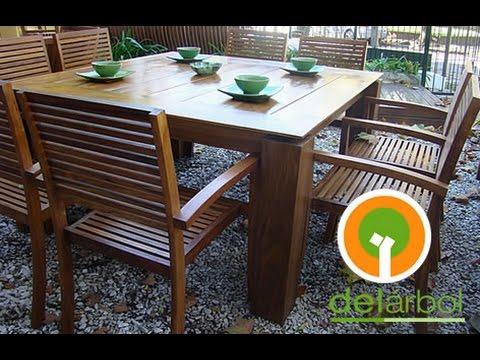 Comedores de madera para jard n y exterior del for Comedor para jardin