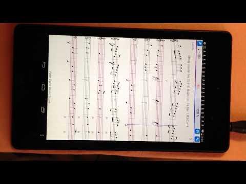 Practice Player Live Midi - plays musicXml score - Haydn String quartet Op.74 no.1 3rd.mov.
