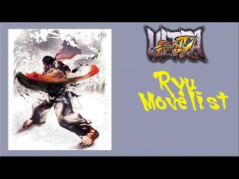 Ultra Street Fighter Iv Ryu Move List Youtube