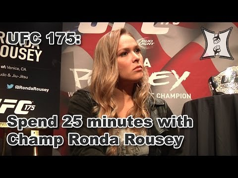 25 Minutes with UFC 175's Ronda Rousey on PEDs, The Expendables 3 + More!