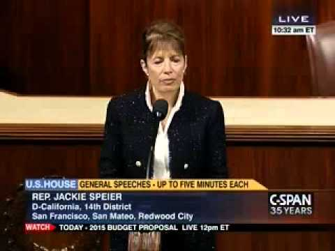 Congresswoman Speier speaks about problem of sexual harassment in House of Representatives