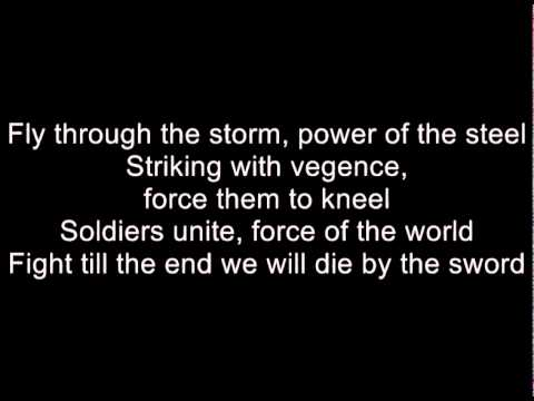 Dragonforce - Die By The Sword (Lyrics)