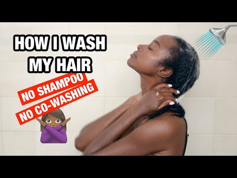 DETAILED: How I Wash My NATURAL HAIR W/o Shampoo OR Co-wash