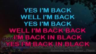 Back In Black - AC DC ( Karaoke Lyrics )