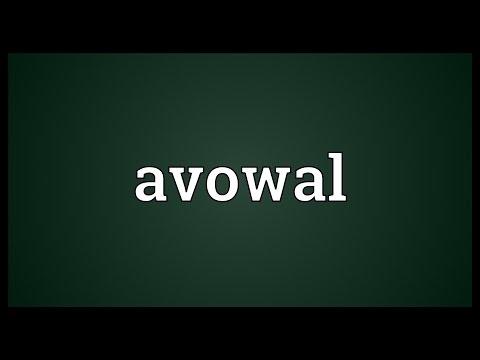 Header of avowal