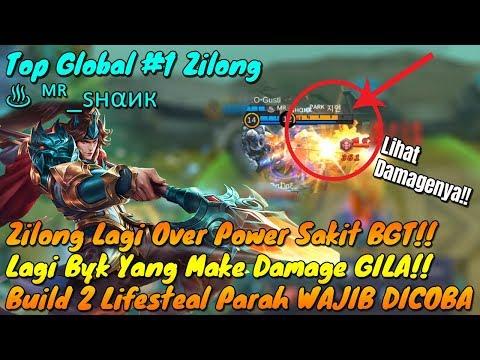 Zilong Kini Sakit BGT!! Build 2 LifeSteal Top Global Zilong Menggila!! User Zilong WAJIB TONTON!!