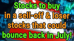 Stocks to buy in a sell-off & loser stocks that could bounce back in July! | SwitzerTV: Investing