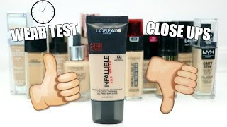 L'Oreal Infallible Pro Matte Foundation || Wear Test & Review || Best Drugstore Foundation Series