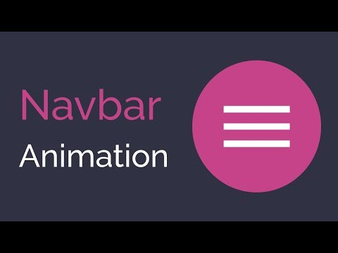 Animated Responsive Navbar Tutorial