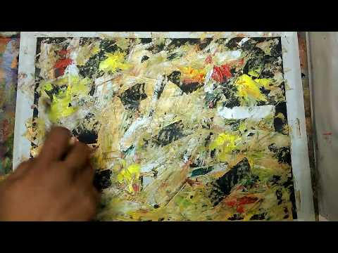 How To Make/Abstract/ Different tools and techniques/Easy Acrylics Demonstration