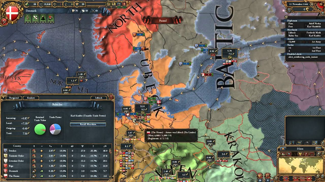 Europa Universalis IV Nations Denmark Sweden Norway YouTube - Norway map game