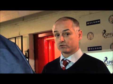 Brechin v Dunfermline Post Match Interviews 25.01.14