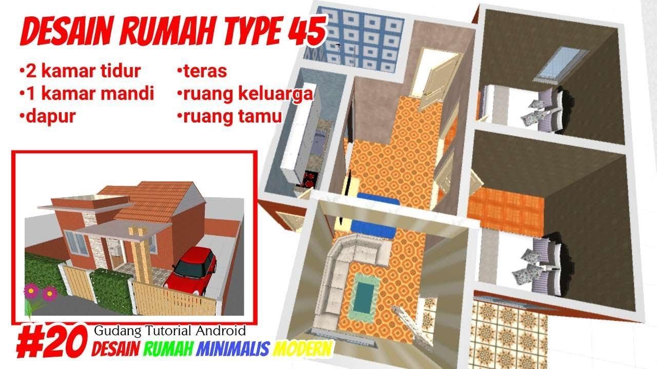 Desain rumah minimalis modern ukuran 7x9 Gudang