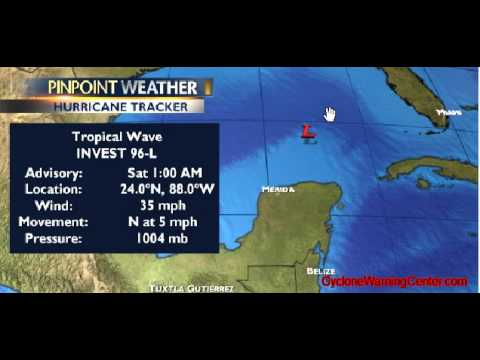 Invest 96L in the Gulf of Mexico