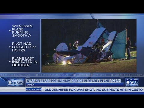 NTSB releases report on Apex plane crash