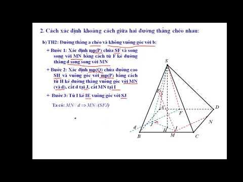 Cách xác định khoảng cách giữa hai đường thẳng chéo nhau trong không gian cực hay