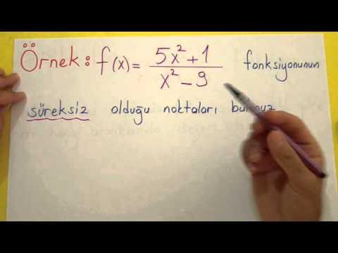 Süreklilik Şenol Hoca Matematik