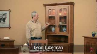 Barn Furniture - Amish Corner China Cabinet