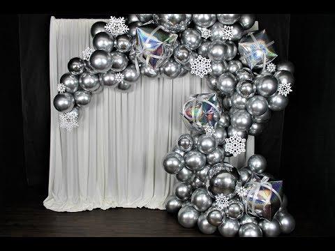 Winter Silver Metallic Balloon Garland DIY | How to