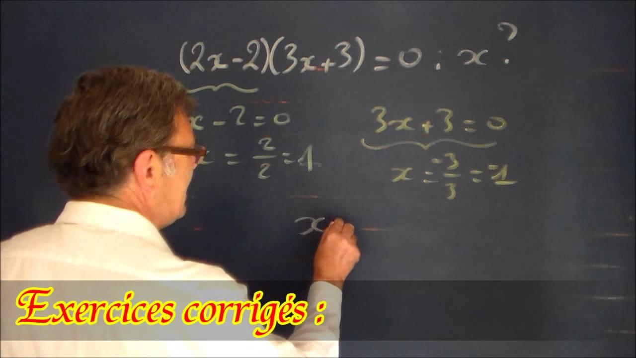 Equation de produits : cours et exercices corrigés Maths ...