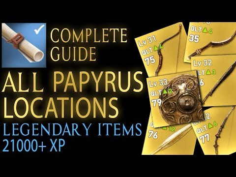 Assassin's Creed: Origins - All 25 Papyrus locations (Legendary items + 21k XP)