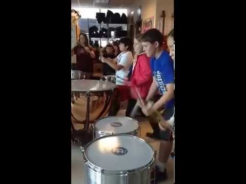 CYS Shakespeare Immersion Week at British School of Chicago: Year 7 Drumming Part 1