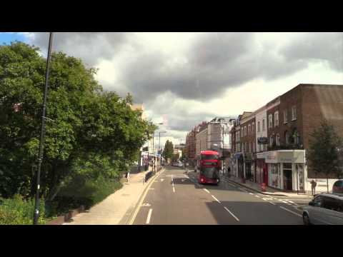 Time lapse bus ride from Hammersmith to Kensington High Street