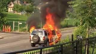 Car Fire in Springfield, Massachusetts