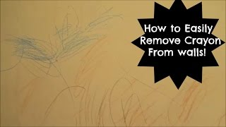 how to remove pencil marks and crayon off the painted wall