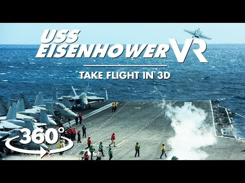 See aircraft carrier jet launches, air operations for the first time in 3D VR