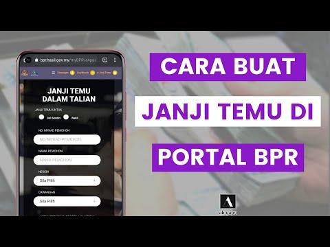 Cara Buat Janji Temu Di Portal BPR Untuk Urusan Rayuan, Semakan Status Bantuan BPR Di Kaunter LHDN