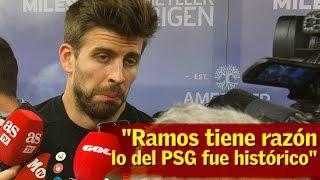 Piqué contesta a Ramos:
