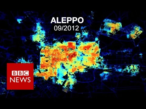 Syria from Space: Aleppo in darkness and light - BBC News
